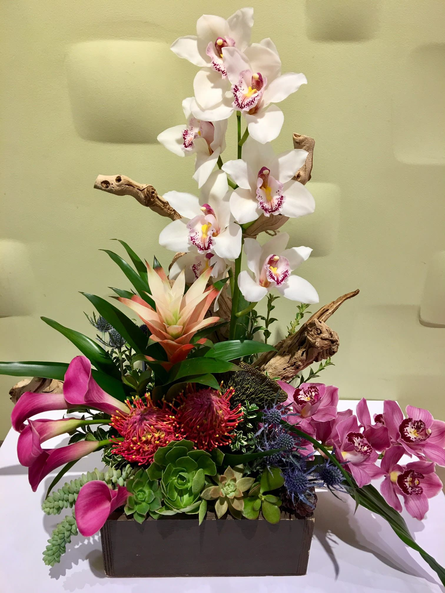Origami By Downtown Flowers Tropical Floral Arrangements Tropical Flower Arrangements Modern Flower Arrangements
