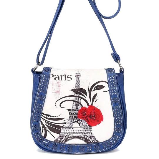 New Paris Eiffel Womens School Satchel Bag Messenger Ladies Handbag Crossbody