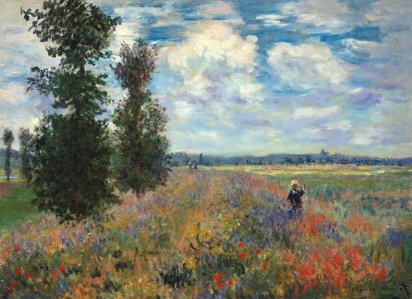 Claude Monet - Le champ de coquelicots | Artist-Claude Monet ...