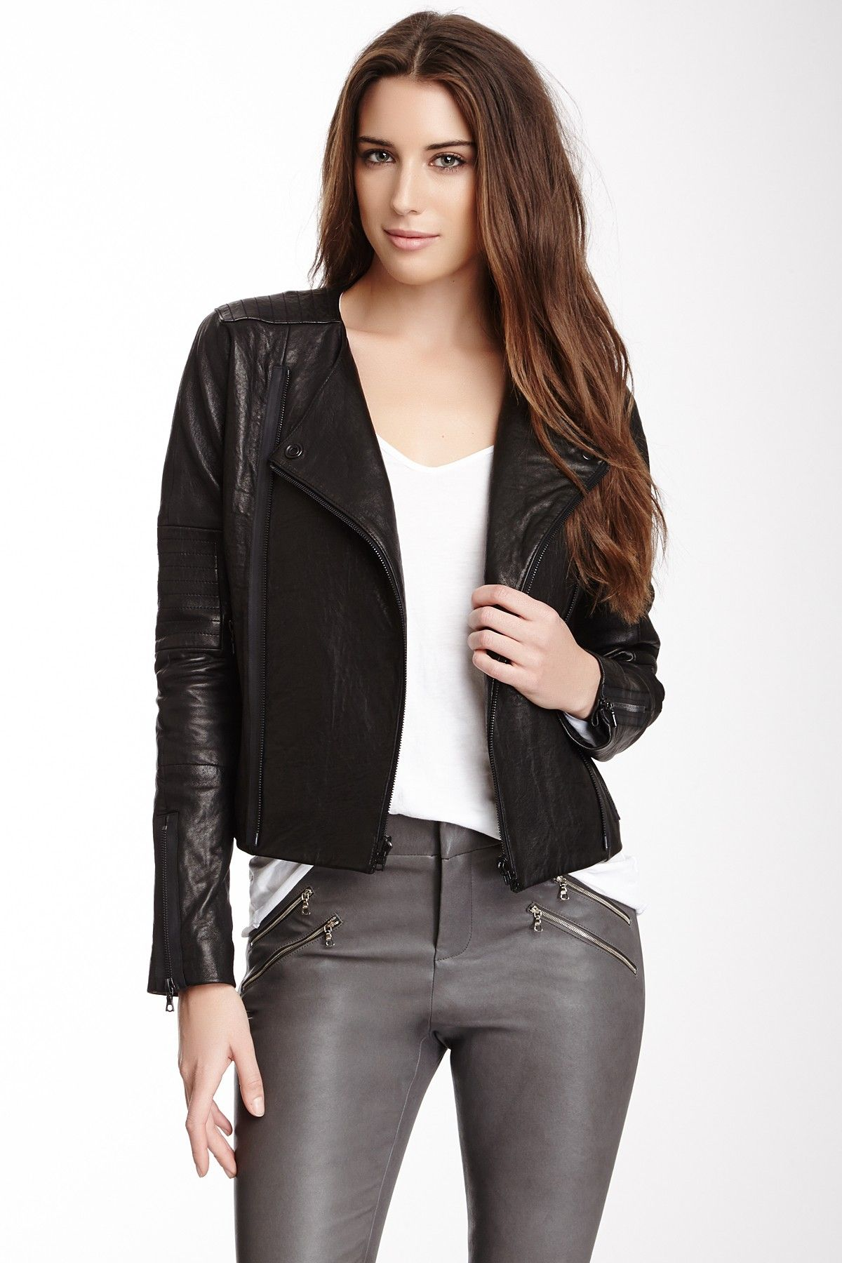 Marie Quilted Leather Jacket