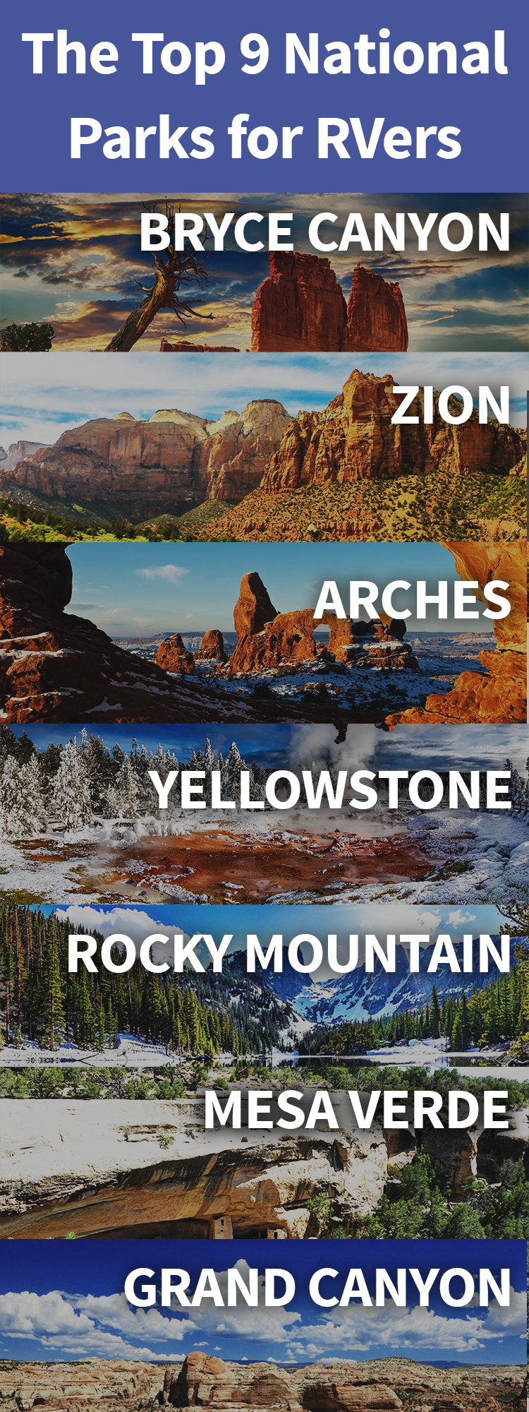 9 Awesome National Parks For RVers