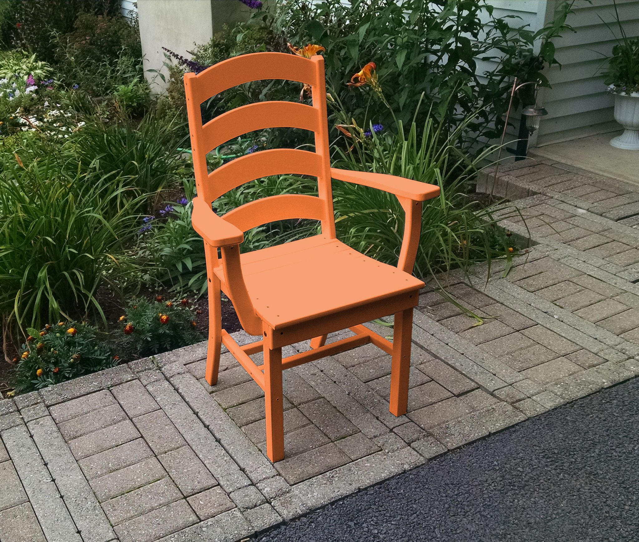 A&L Furniture pany Recycled Plastic Ladderback Dining Chair w