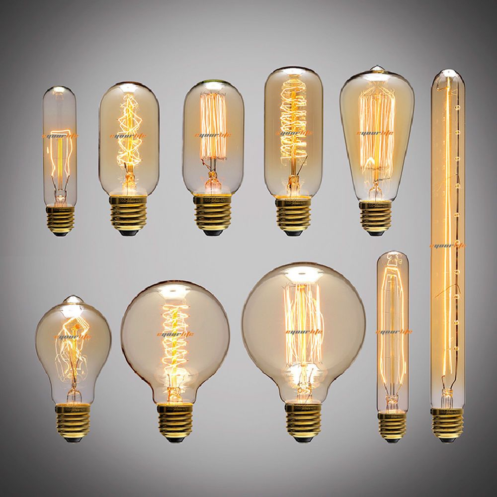 Lampe 40w 40w 60w Filament Light Bulbs Vintage Retro Industrial Style Edison
