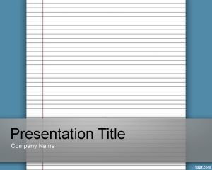 Lined Paper Template for PowerPoint #education #powerpoint #template ...