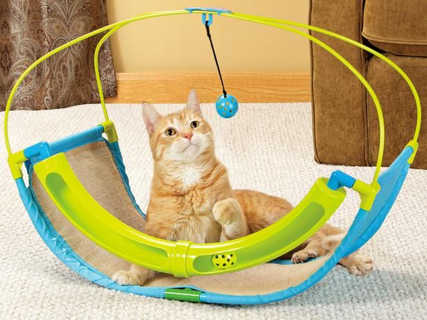 This Toy Shoppe Playables Kitty Rocking Roller Cat Toy Keeps The Ball Rolling Enticing Your Cat To Play The Toy Features Diy Cat Toys Cat Toys Cat Playground