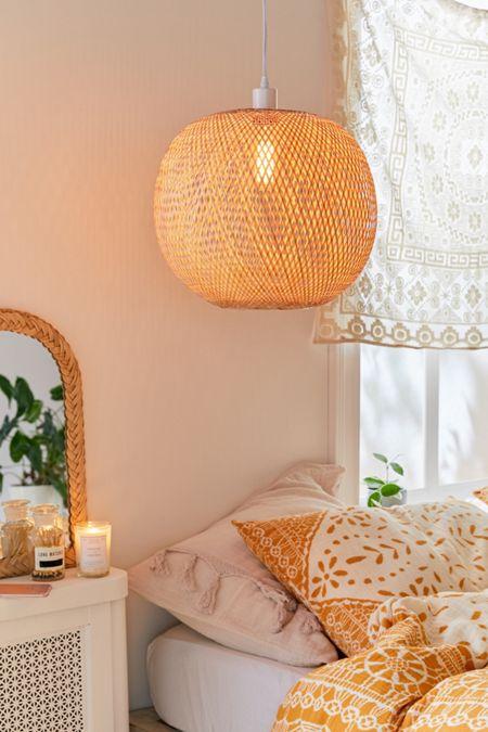 Alina Rattan Pendant Light In 2020 Rattan Pendant Light Bedroom Decor Decor
