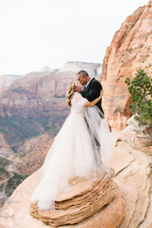 Winter Elopement In Zion National Park M Felt Photography Winter Elopement National Parks Wedding Portraits