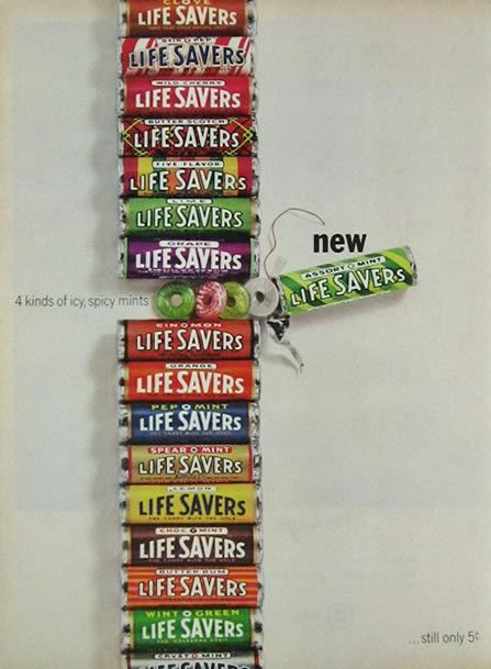 1964 Lifesavers Candy Ad Icy Spicy Mints Yesteryear