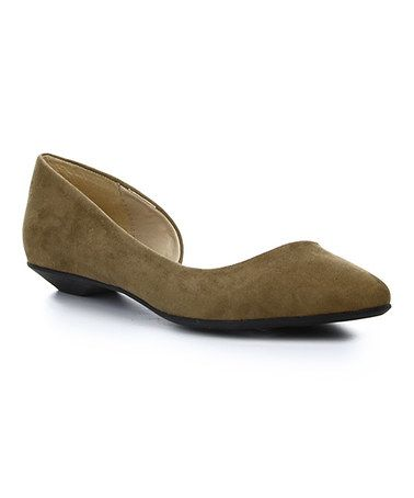 Love this Brown Belita One-Side D'Orsay Flat by Cape Robbin Collection on #zulily! #zulilyfinds