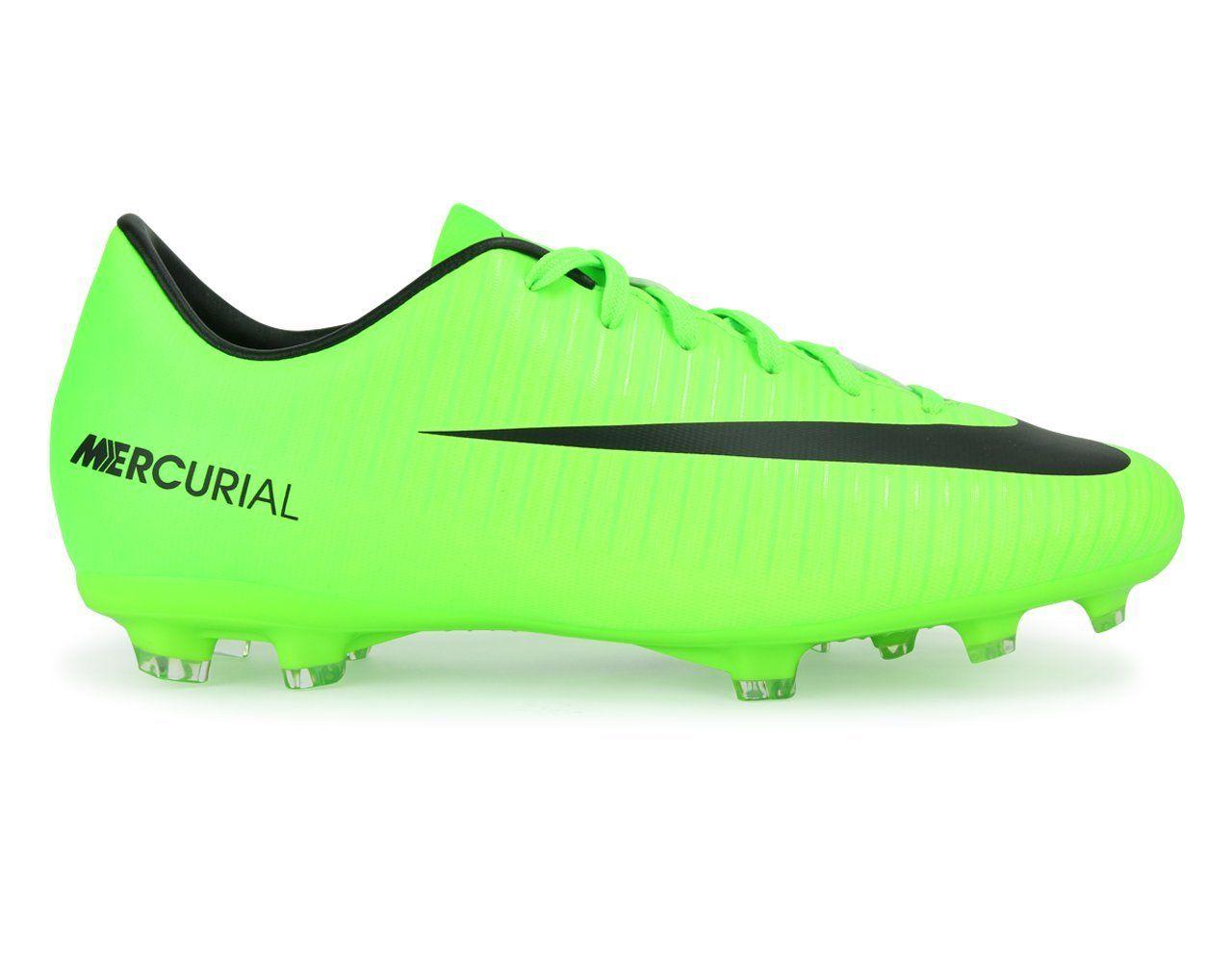 8cbd89e9f207 Nike Kids Mercurial Victory VI FG Electric Green Black Flash Lime Soccer  Shoes -