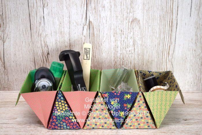 Tisch Organizer, Origami Boxen   Aufbewahrung Für Den Schreibtisch  Www.stempelrausch.de