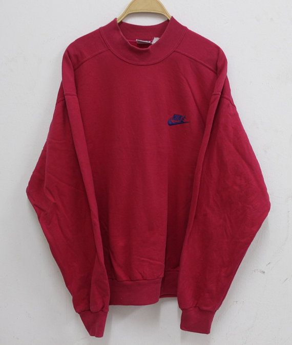 Vintage Nike Sweatshirt Sweater Pullover Gray Tag Rare Size