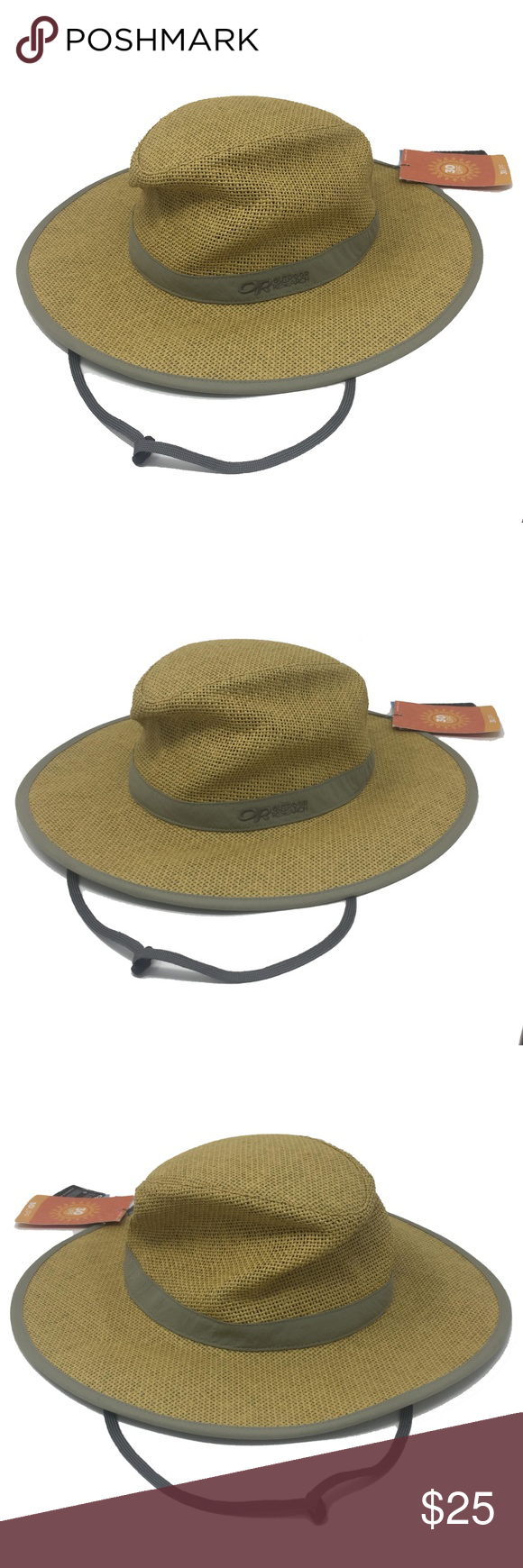 efdb454d911 Outdoor Research Papyrus Brim Sun Hat Khaki OR NEW Outdoor Research Papyrus  Wide Brim Sun Hat