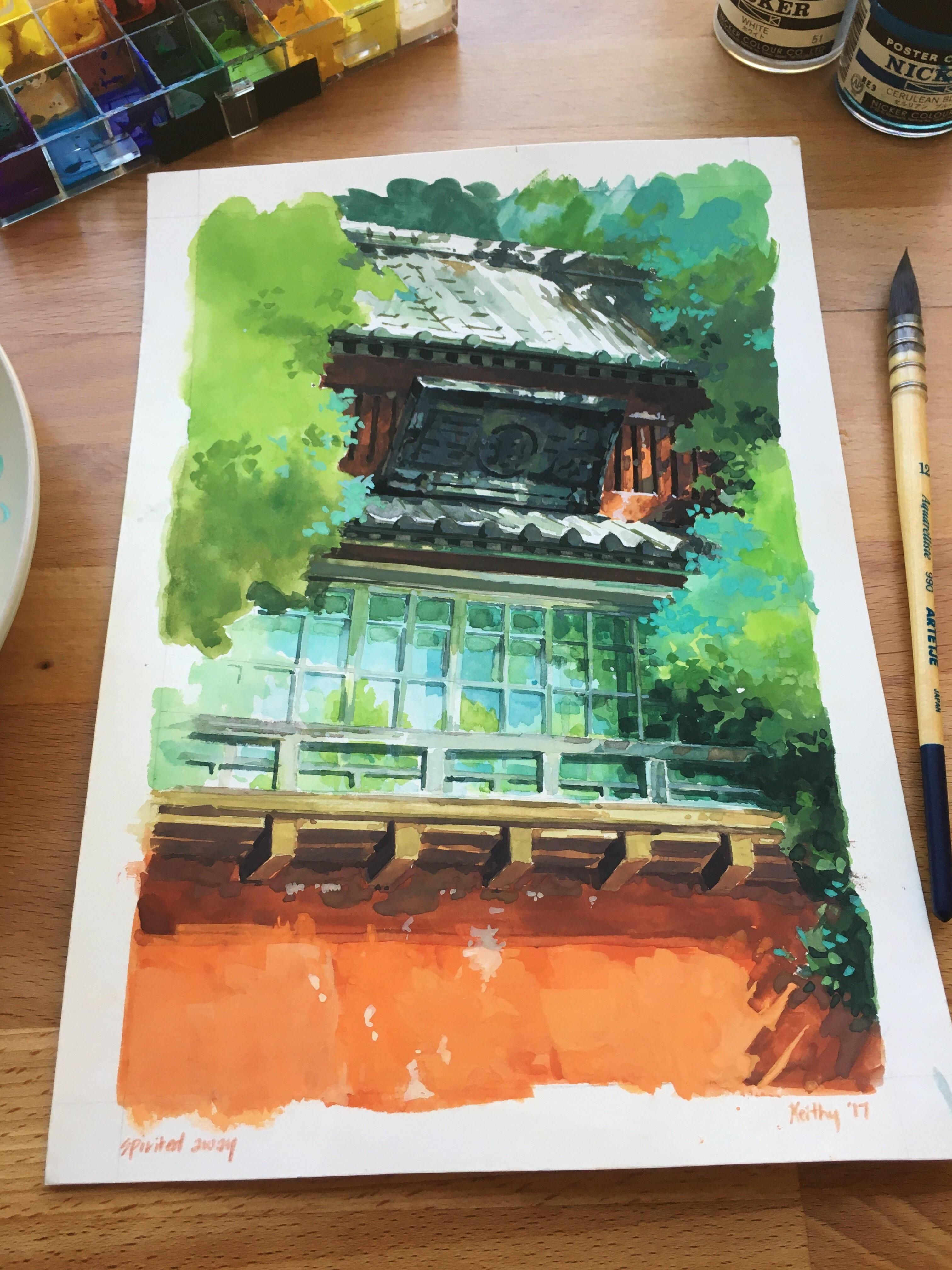 Spirited Away Background Study Ghibli Art Studio Ghibli Ghibli
