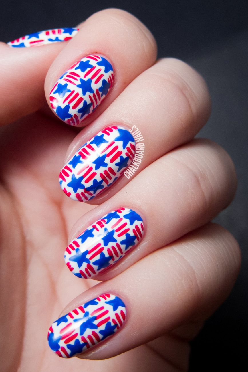 20 Red White And Blue Nail Designs For The 4th Of July Blue Nails