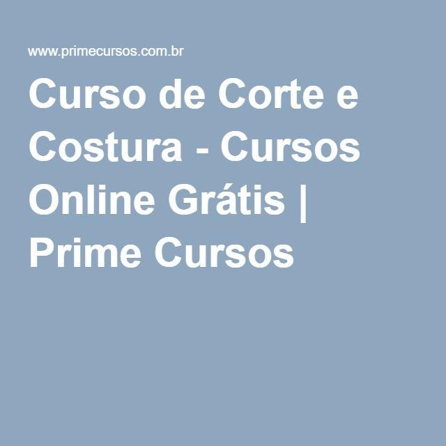 Curso De Corte E Costura Cursos Online Grátis Prime Cursos