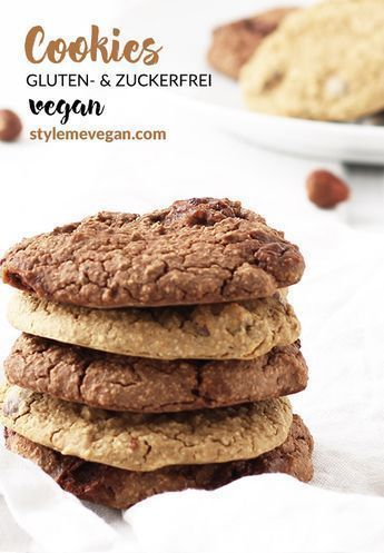 Vegane Cookies – glutenfrei & ohne Zucker {Rezept} - Style Me Vegan