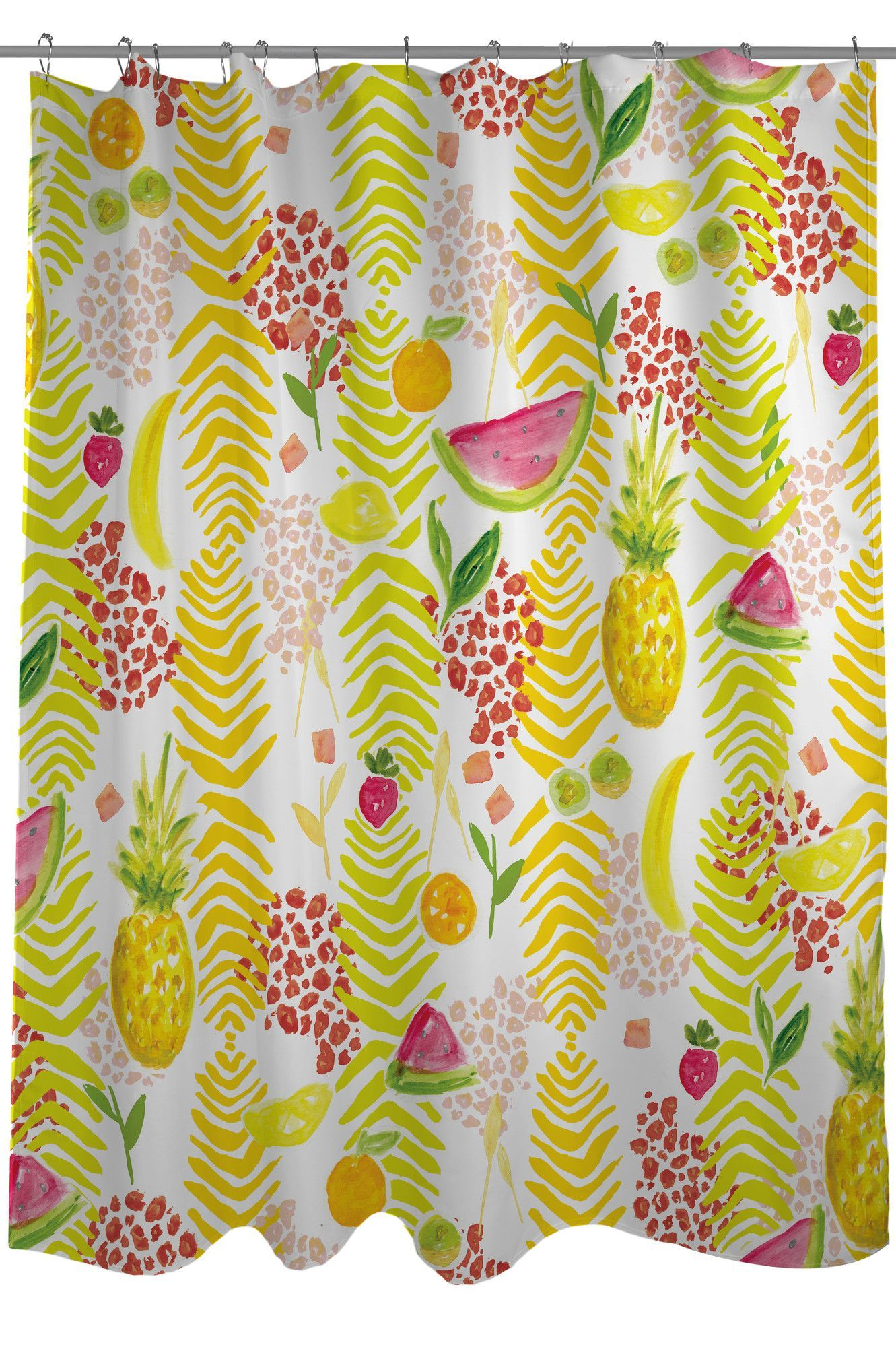 Tropical Fruit Shower Curtain Curtains Shower Curtain Tropical