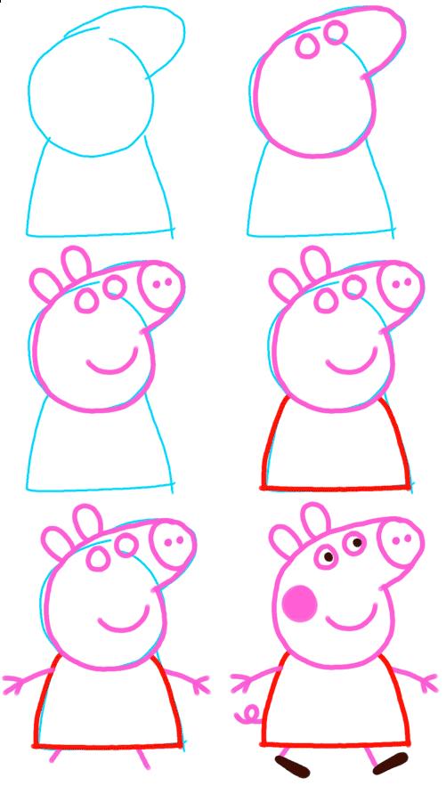 Como Dibujar A Peppa Pig Pequeñas Manualidades Aprender A