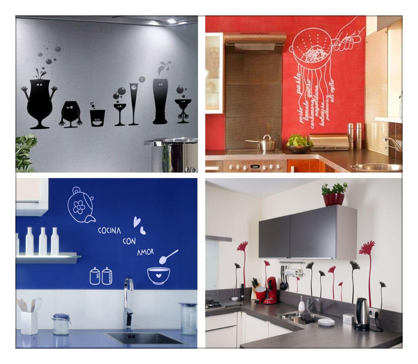 Vinilos para las paredes de tu cocina - Decoguia | cocina ...