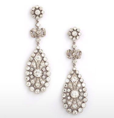 Edwardian Diamond Chandelier Drop Earrings   jewels   Pinterest ...