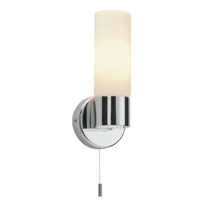 Endon lighting 34483 pure chrome effect plate and matt opal duplex glass bathroom wall light
