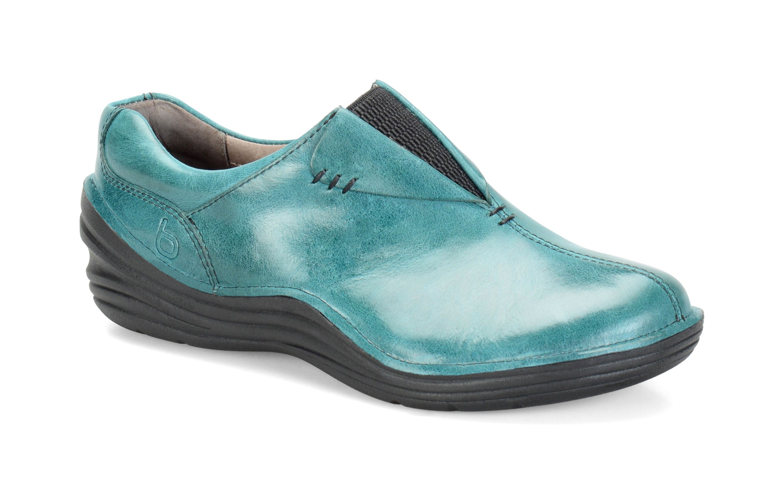 Bionica Veridas Teal | Leather slip on shoes, Stylish