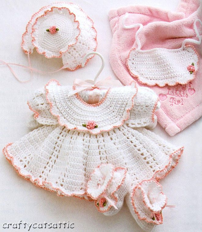 Its A Baby Girl Thing Crochet Pattern Book Baby Dresses Ballet