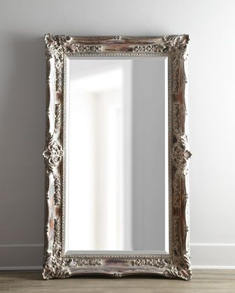 Antique french floor mirror floor mirror mirror for Floor mirror white frame