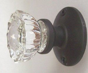 Crystal Antique Replica Surface Mount Single Dummy/French Door Knob Set By  RoussoUSA. $29.95