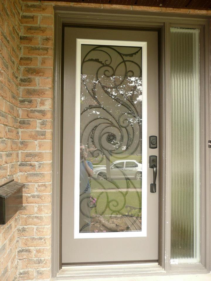 Tornado Wrought Iron Glass Door Insert Installation