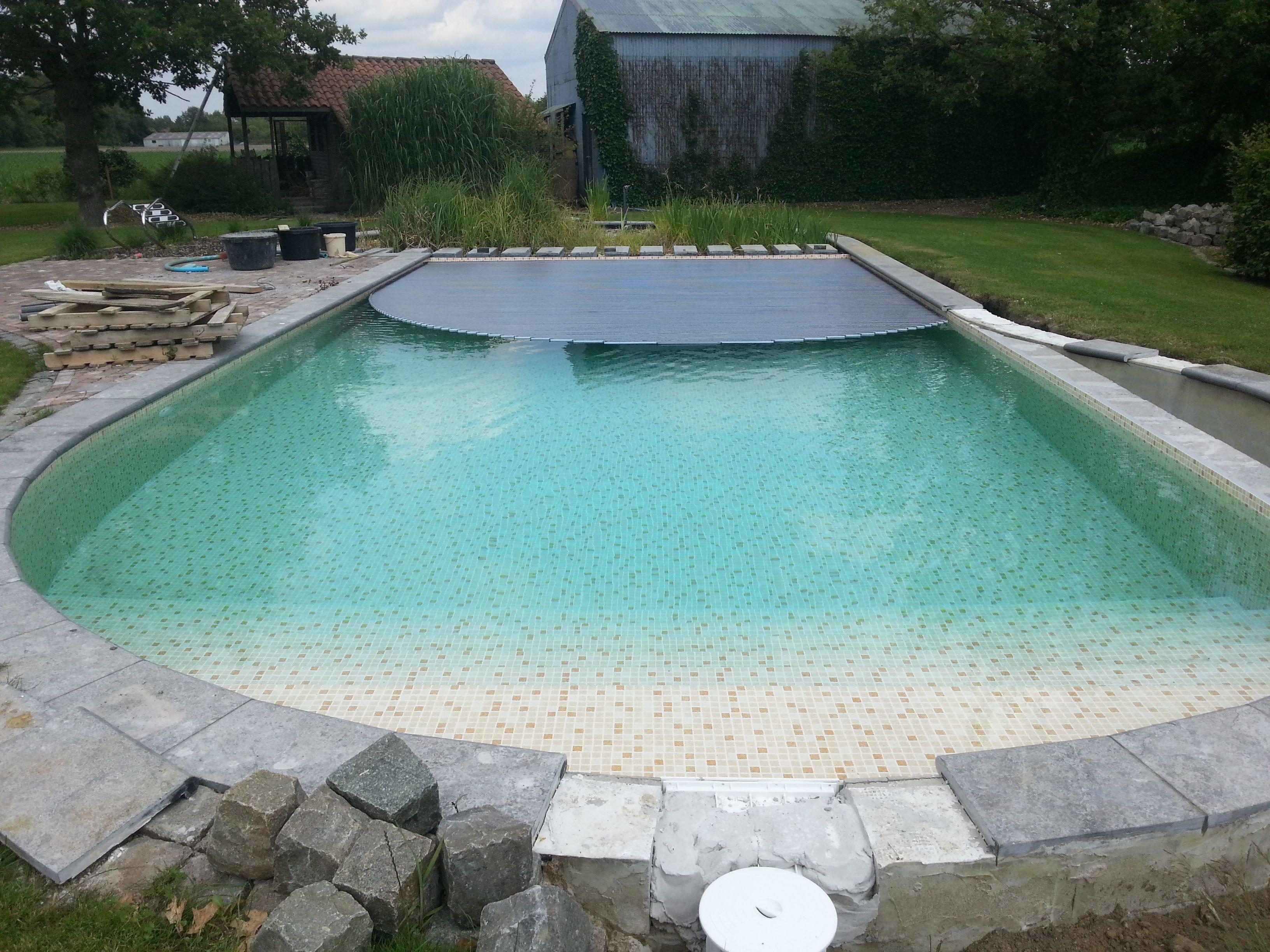Herbouwen zwembad met liner elbe mosaic terracotta zwembaden jr