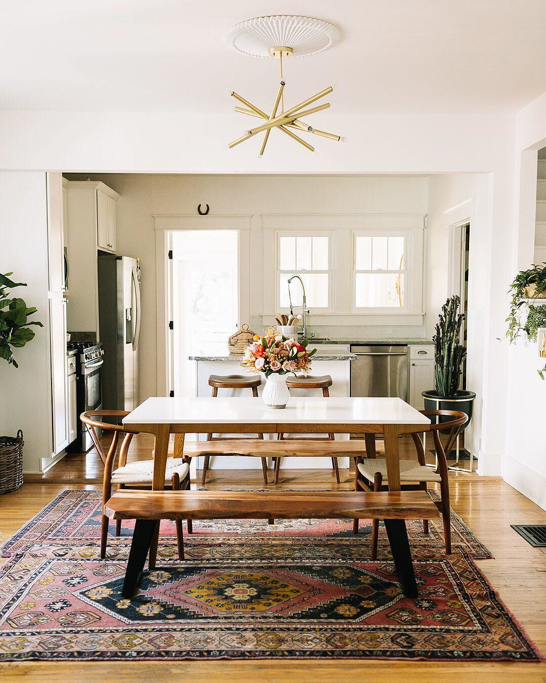 Small Country Dining Room Ideas: We Partnered With @abeautifulmess To Recreate Country Star @spaceykacey's Dining Room- And It