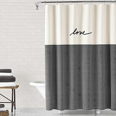 The Ed Ellen Degeneres Love Shower Curtain Features Ellen 39 S