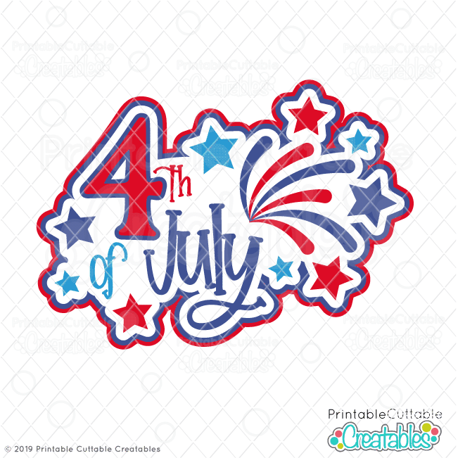 Download 4th of July Title SVG File & Clipart for Cricut ...