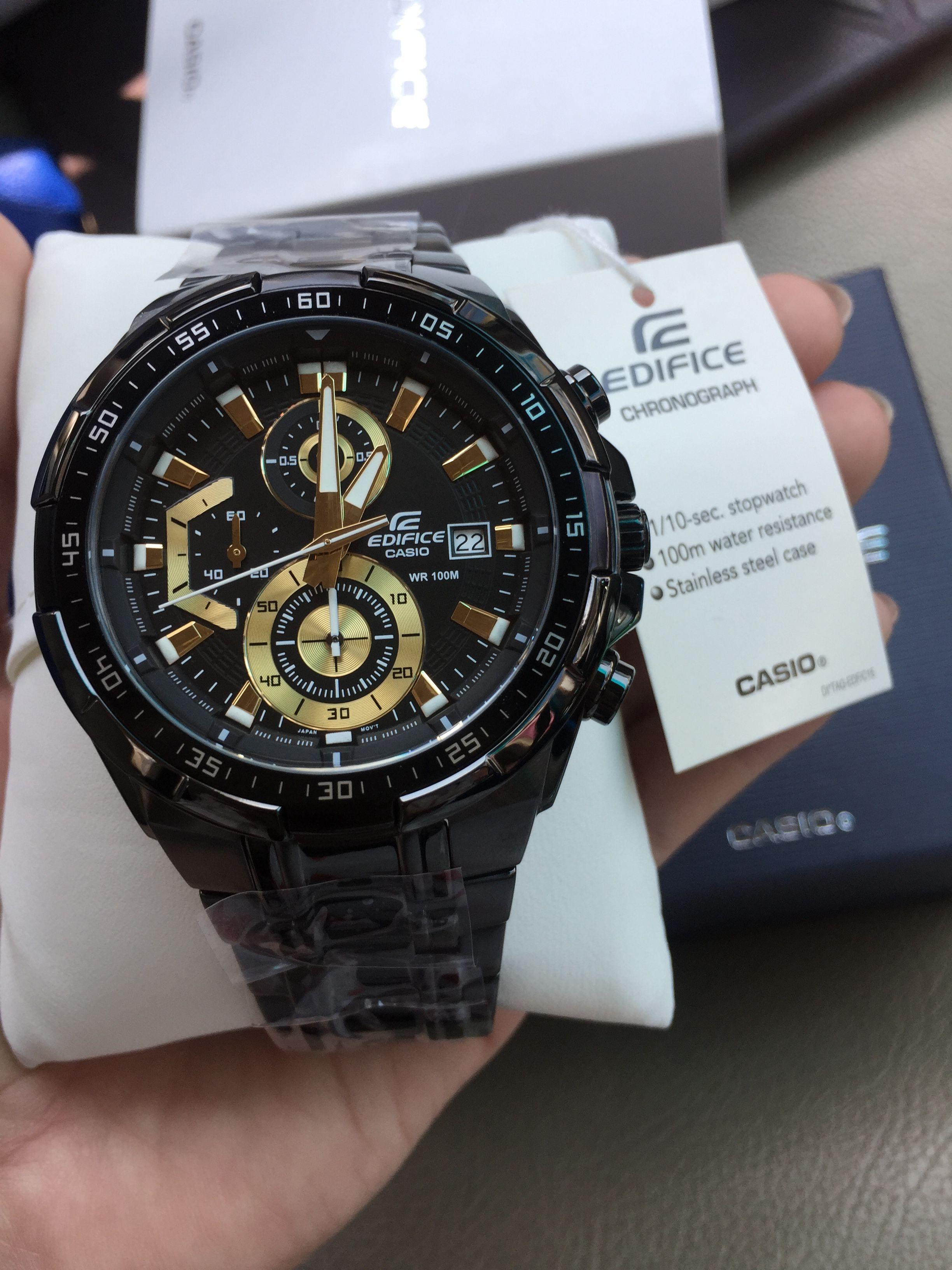 นาฬิกาข้อมือ CASIO แท้ 100% EDIFICE CHRONOGRAPH รุ่น EFR-539BK-1AV นาฬิกา fcdfbe14b