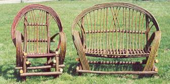 Californina Rustic Willow Hand Crafted Willow Chairs And Loveseats