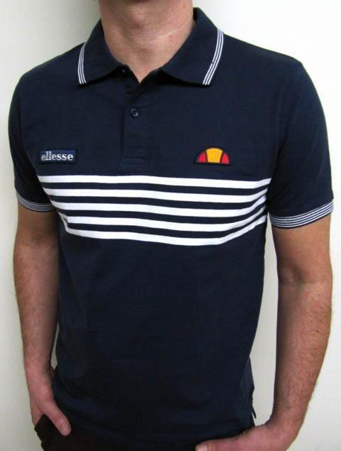 4e202672 Ellesse Heritage Vilas 5 Stripe Polo Shirt La Thuile   Tennis   Ropa ...