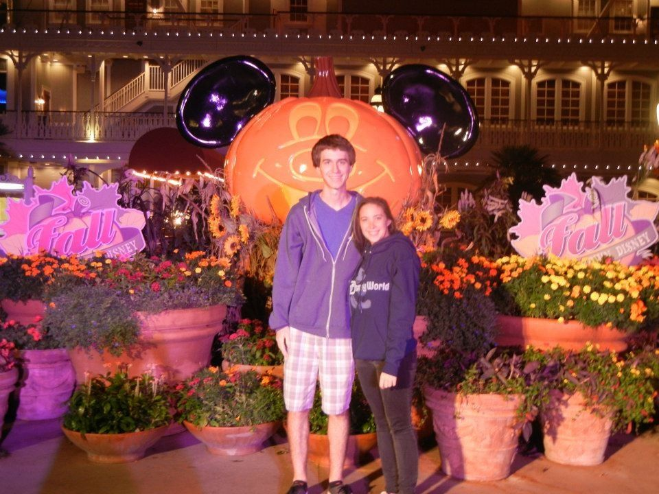 Josh and I in Downtown Disney for Halloween