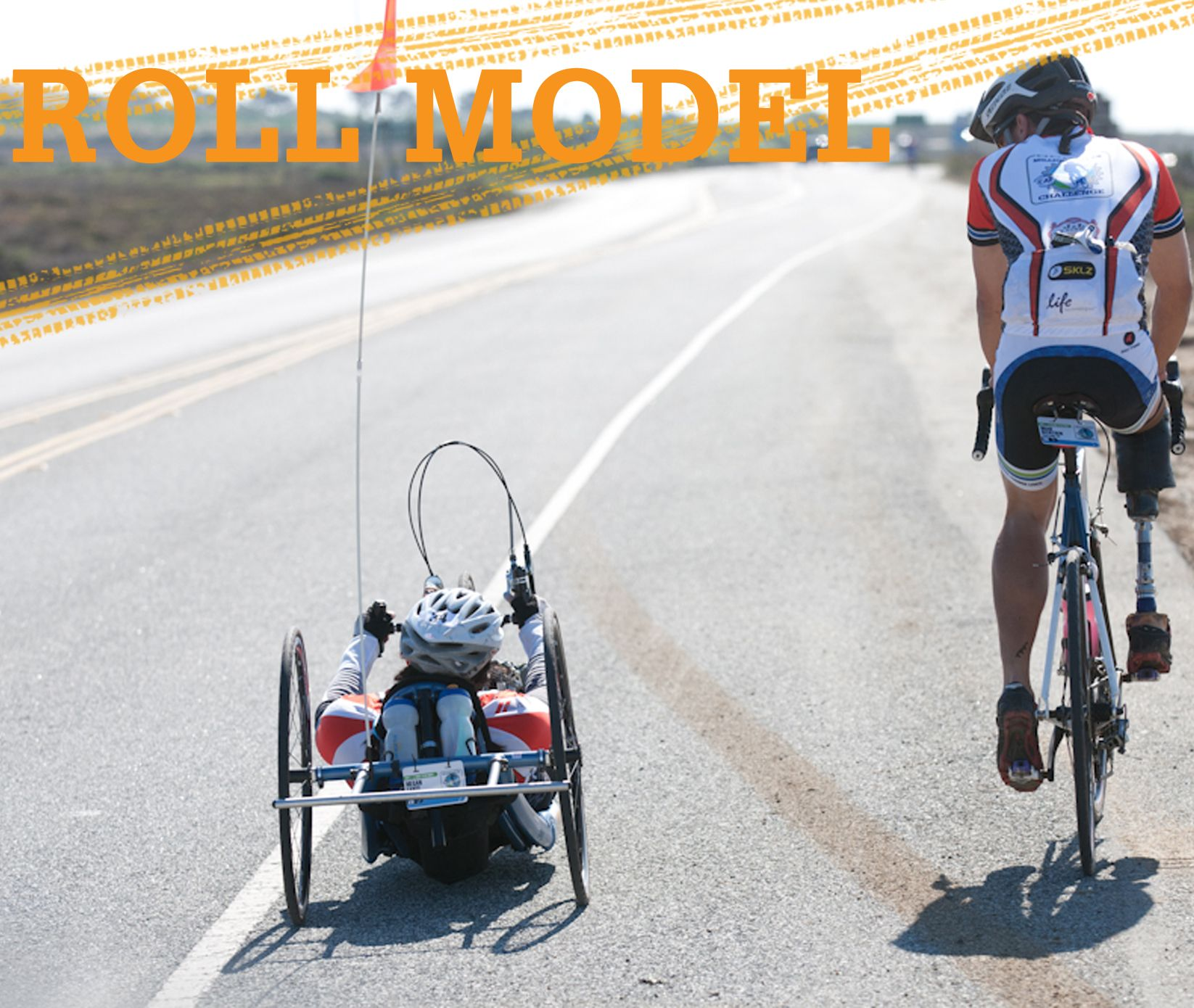 """Who is YOUR """"roll model""""? handcycle amputee cycling"""