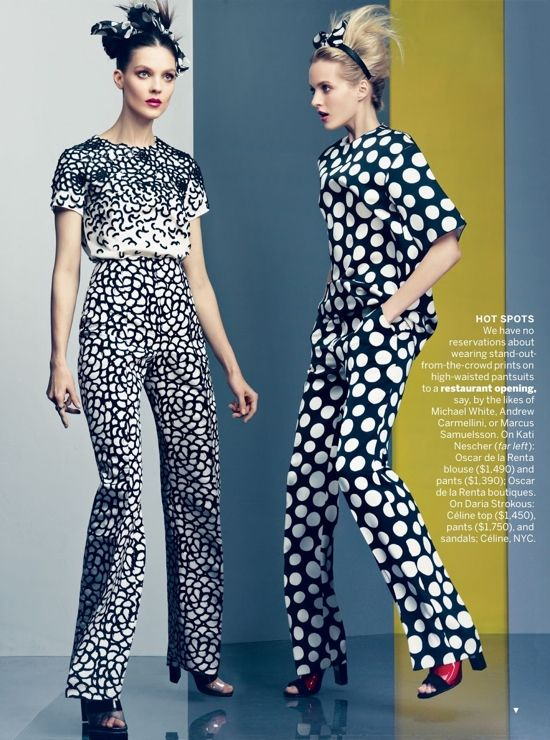 """""""Vogue U.S. November 2012 editorial by Craig McDean"""" - pokadots reinventing the mod 60s ~:^]>"""