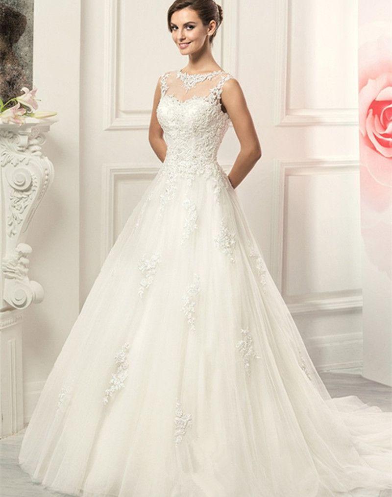 vestidos blancos con encaje - Buscar con Google | vestidos mtrimonio ...