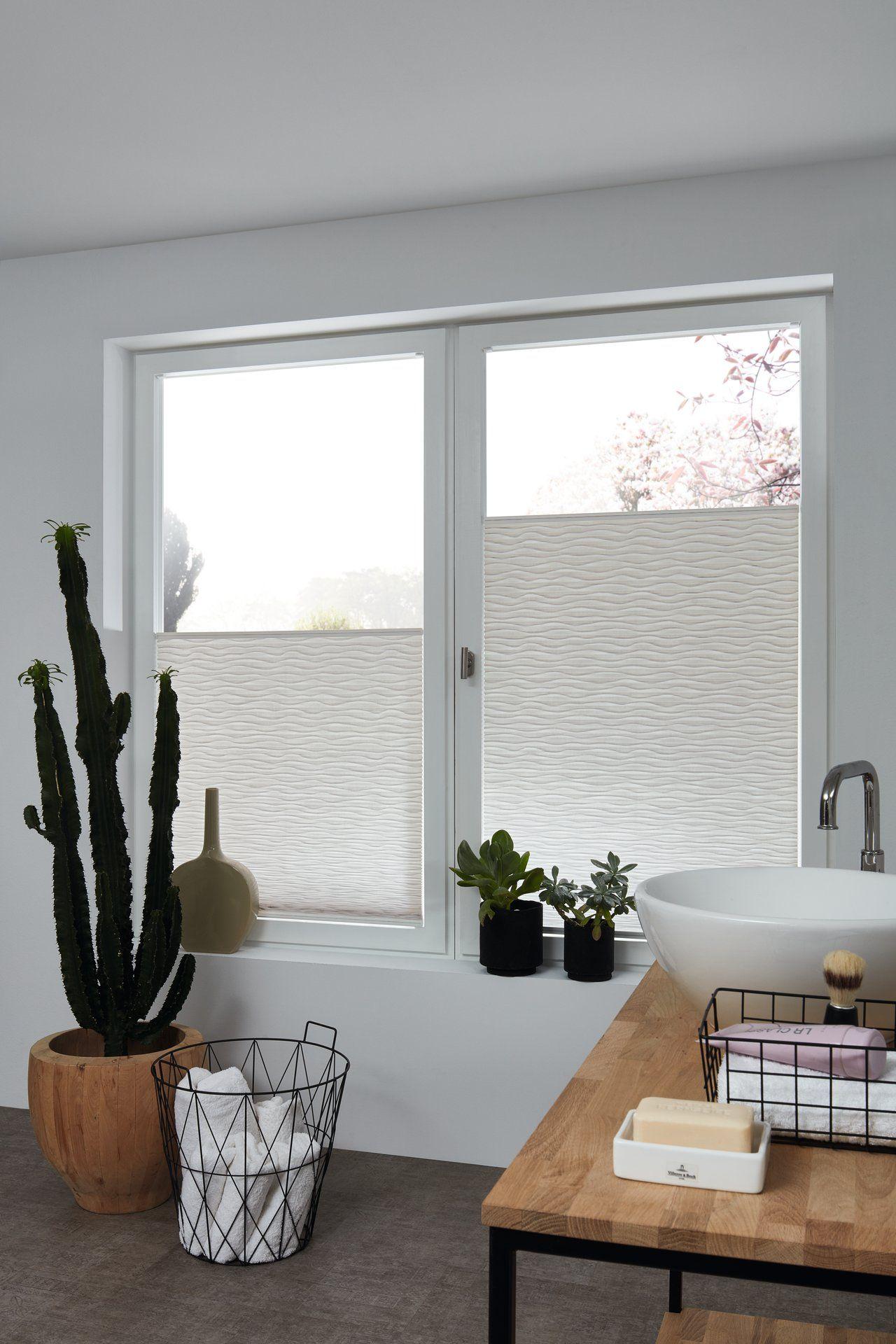 Duette Skyline Plissee Style Ocean Von Jab Anstoetz Badezimmer Ohne Fenster Badezimmer Grundriss Plissee