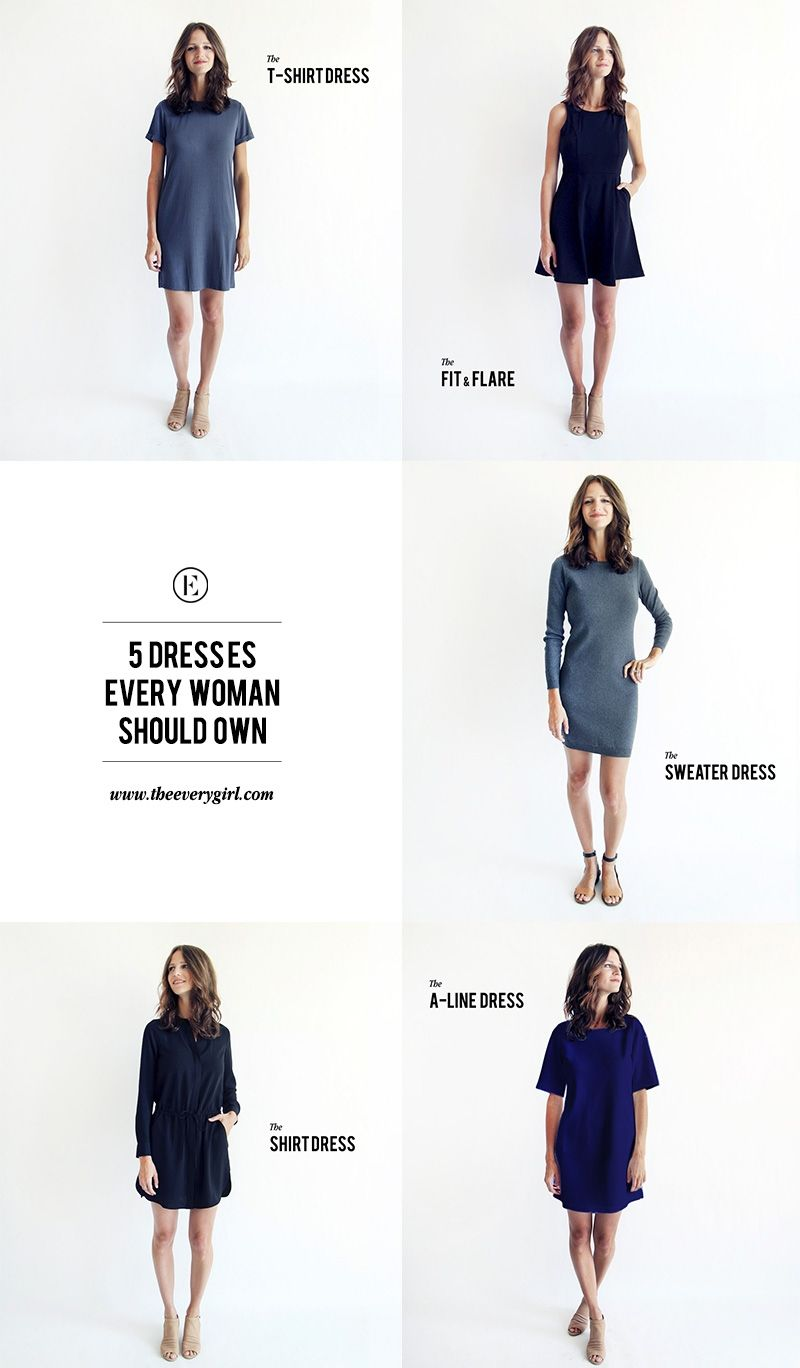 805bb9deae9 5 Timeless Dresses Every Woman Should Own. PLUS  How to dress each one up  or down  theeverygirl