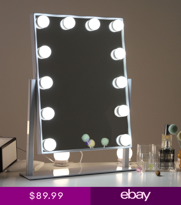 Chende Hollywood Vanity Makeup Mirror With Dimmable Bulb