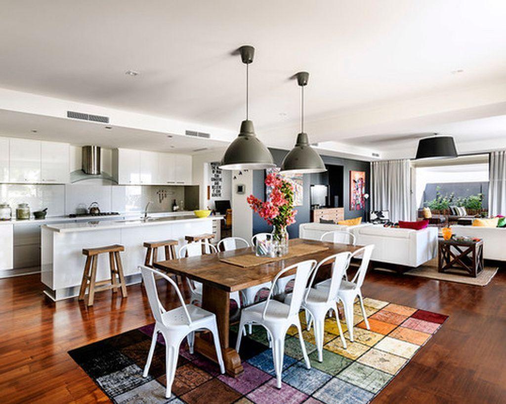 incredible open plan kitchen living room design ideas28