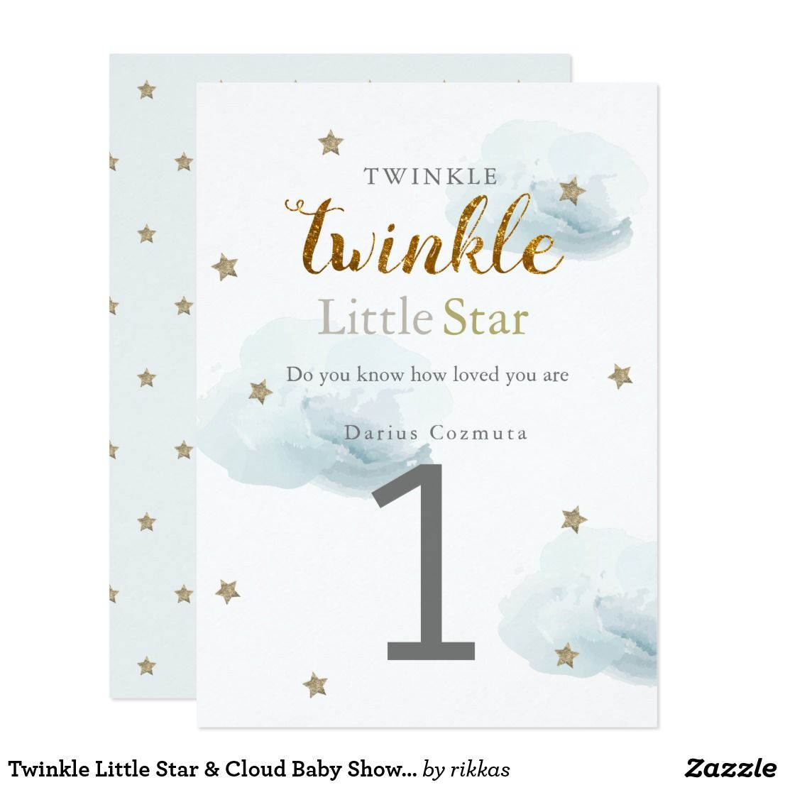 Le Little Star Cloud Baby Shower Invitation Zazzle