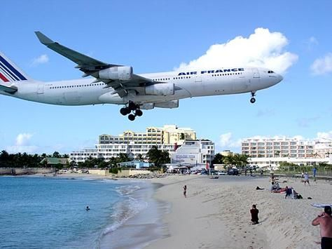 St. Maarten, Caribbean      Watch airplanes land and take off