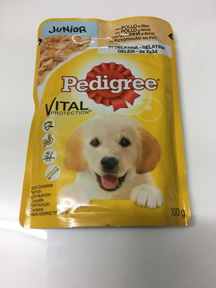 Pedigree 100grm Junior Pouch Pedigree Wet Dog Food Dry Dog