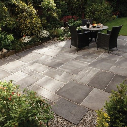 26 Fabulous Garden Decorating Ideas With Rocks And Stones: StoneFlair By Bradstone, Cloisters Paving Cloisters Small